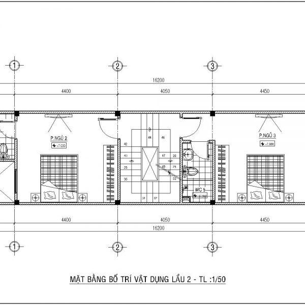 Thiết kế nhà 4x15 1 trệt 2 lầu nhà Anh Đương Quận 6 | Nhà Đẹp Sài Gòn