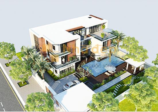 Tư vấn biệt thự 3 tầng hiện đại sang trọng trên đất 27x21m