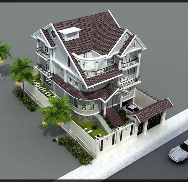 Phương án tư vấn thiết kế biệt thự 2 mặt tiền 9x18m