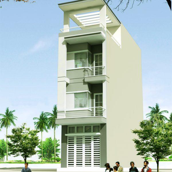 Thiết kế nhà phố 4x16 | Nhà Đẹp Sài Gòn