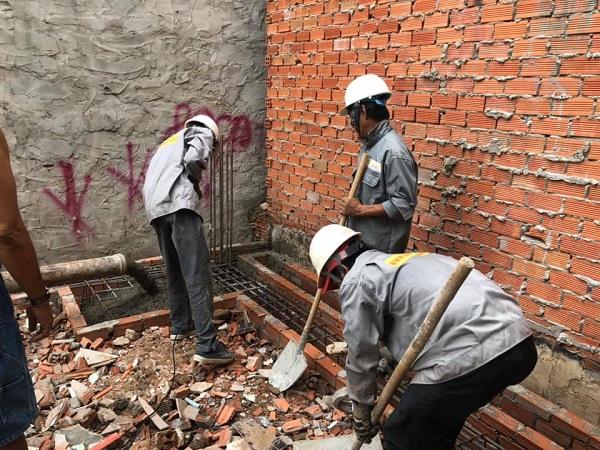 Phần móng là phần quan trọng của ngôi nhà nên rất được Nhà Đẹp Sài Gòn lưu tâm đối với tất cả các công trình