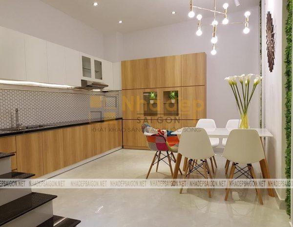 Không gian phòng bếp và bàn ăn, nội thất bàn ăn được sử dụng đang là xu hướng thiết kế hiện nay