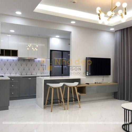 Hoàn thiện căn hộ A2-39.08 Vinhome Ba Son do Nhà Đẹp Sài Gòn thi công