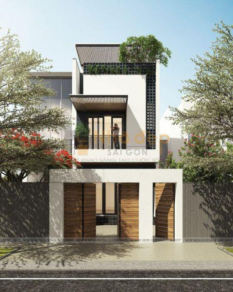 Thiết kế kiến trúc nhà phố - mẫu 10