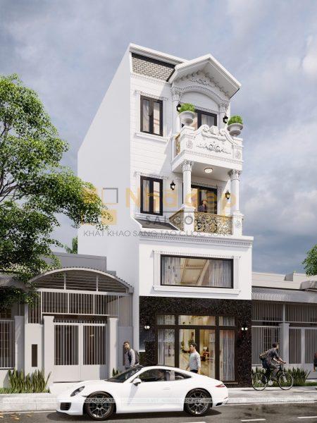 Thiết kế kiến trúc nhà phố - mẫu 2