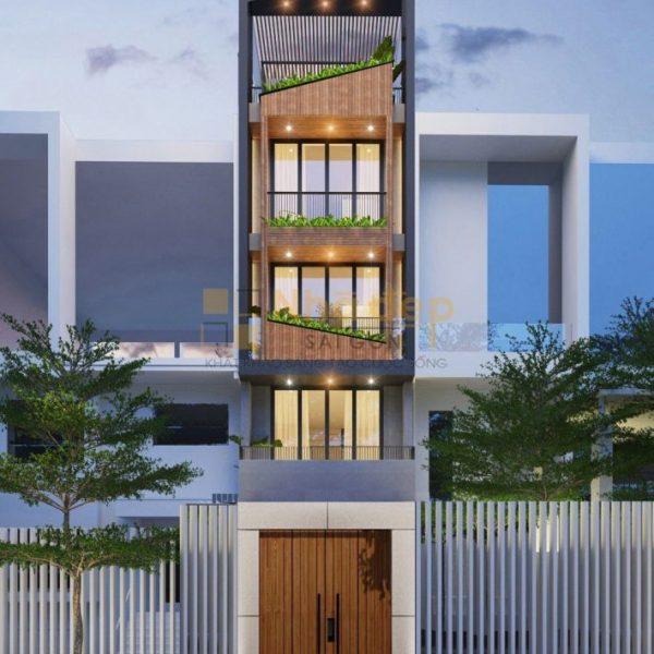 Thiết kế kiến trúc nhà phố - mẫu 3