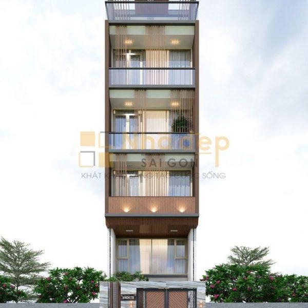 Thiết kế kiến trúc nhà phố - mẫu 4