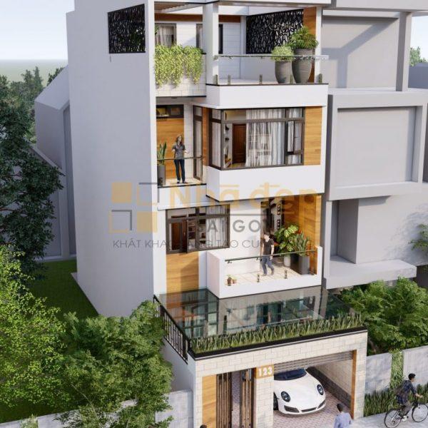 Thiết kế kiến trúc nhà phố - mẫu 5