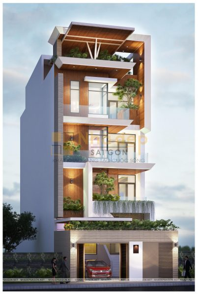 Thiết kế kiến trúc nhà phố - mẫu 6