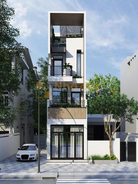 Thiết kế kiến trúc nhà phố - mẫu 7
