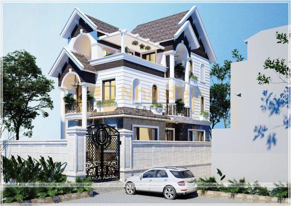 Thiết kế kiến trúc nhà phố - mẫu 9
