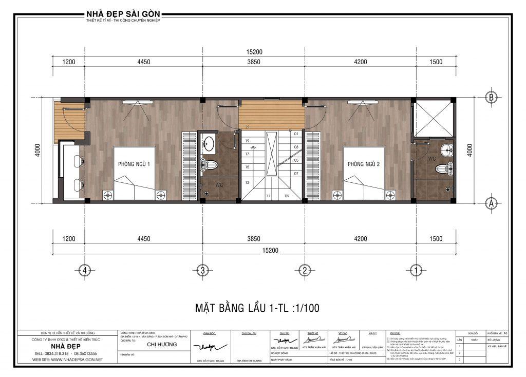 Thiết kế nhà 4x14 lầu 1