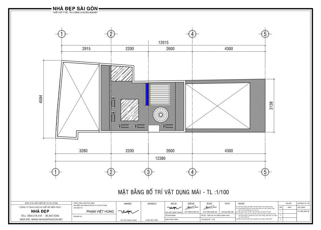 Thiết kế nhà nhỏ và méo trong hẻm nhỏ cho 02 vợ chồng trẻ