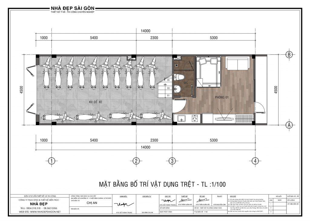 Thiết kế nhà 4.5x14