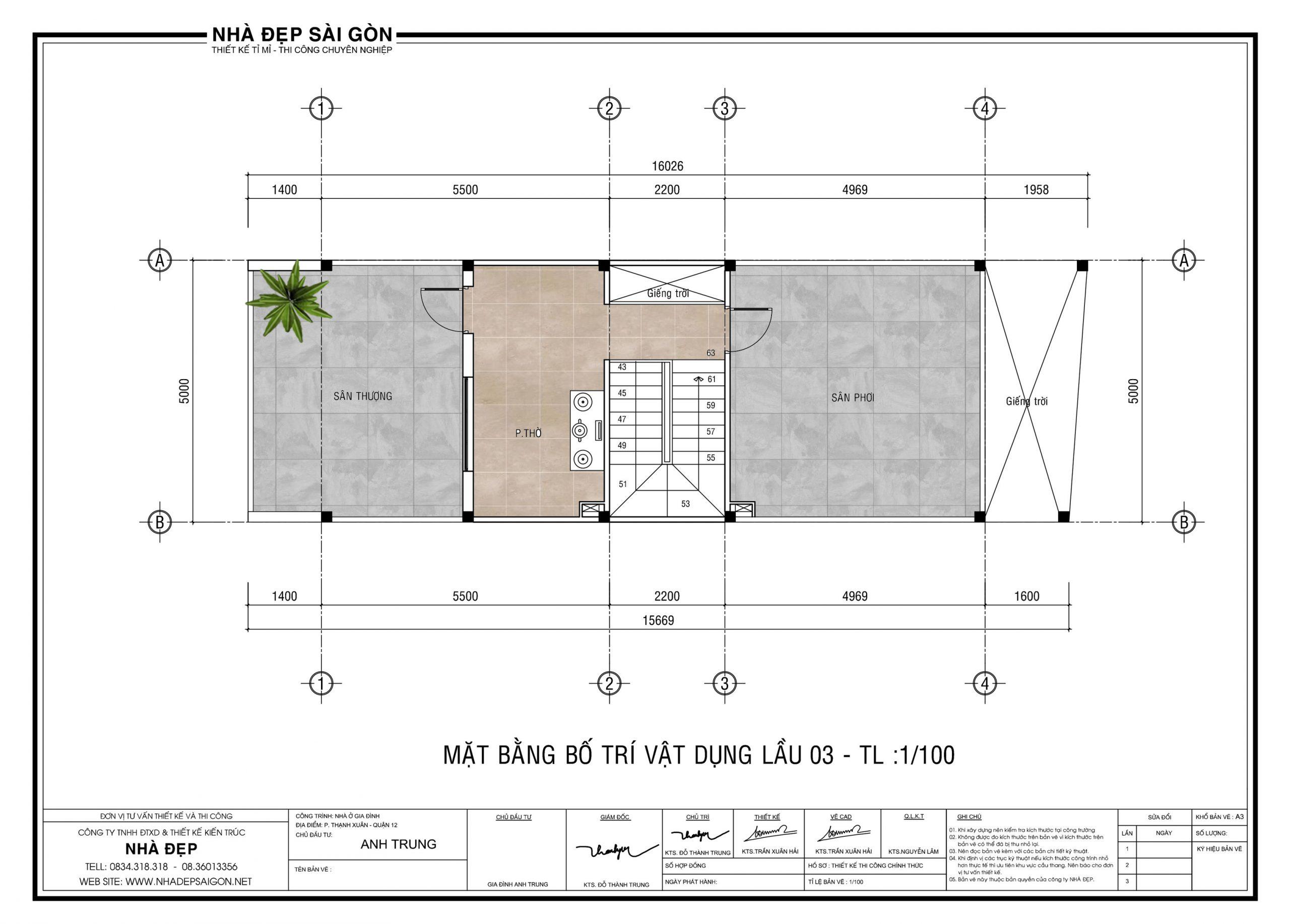 Tư vấn thiết kế nhà 5x20 cho gia đình trẻ.