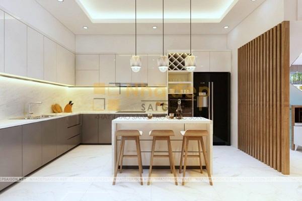Không gian bếp với vẻ đẹp tinh tế, đơn giản