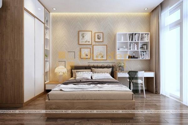 Không gian phòng ngủ tràn ngập ánh sáng tự nhiên
