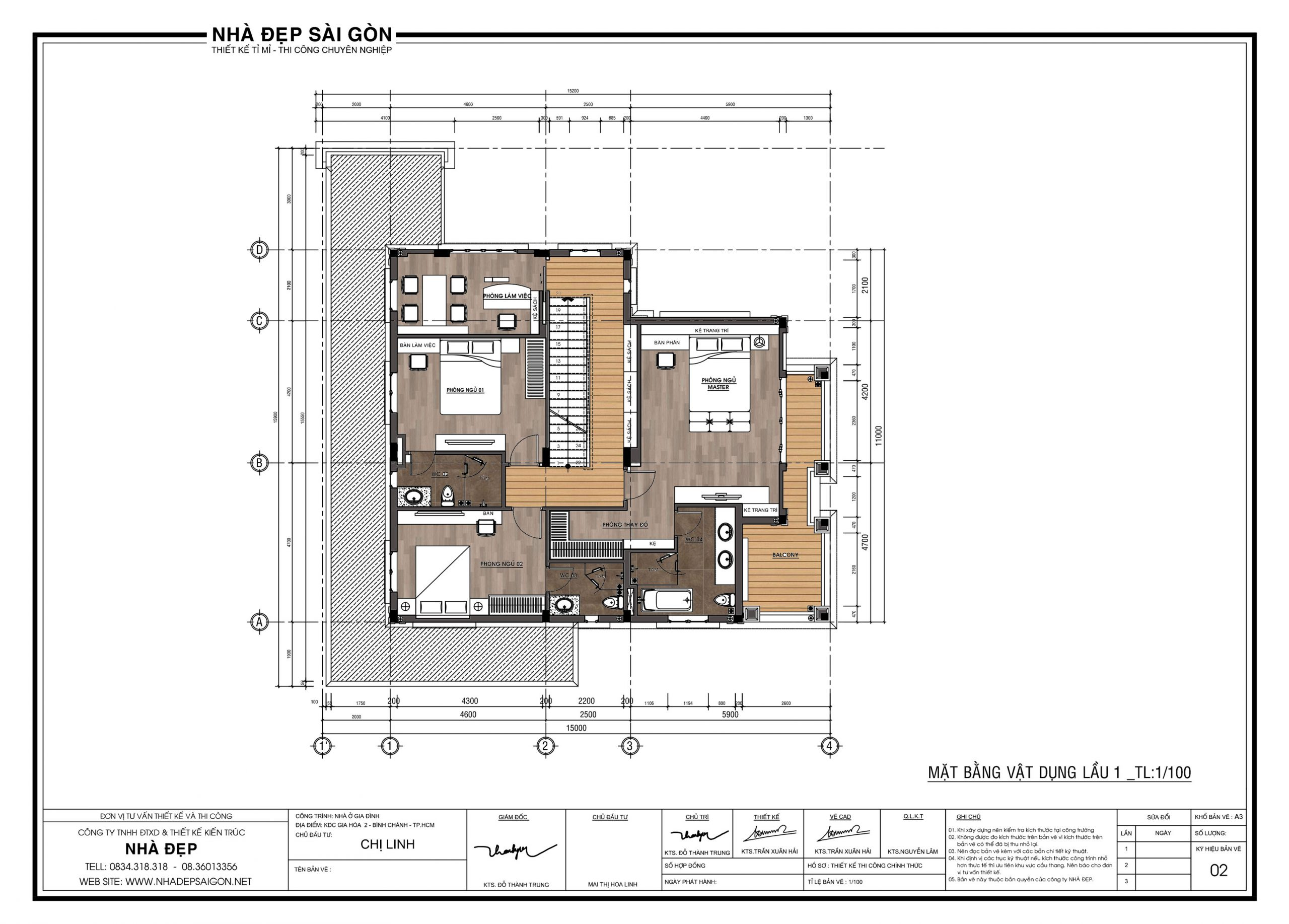thiết kế biệt thự 16x18