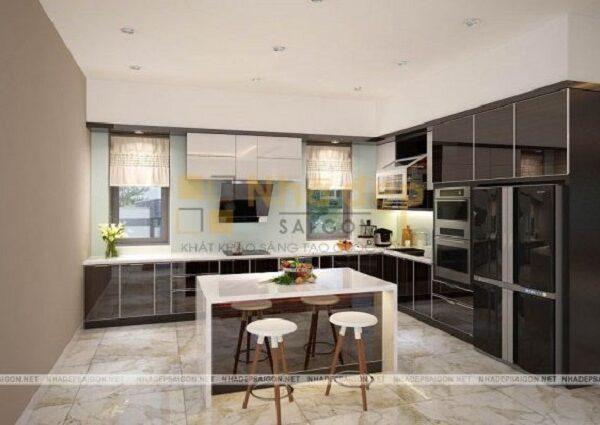 Mẫu nhà 7x15 – Không gian phòng bếp