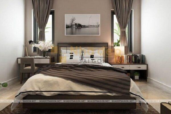 Mẫu nhà 7x15 – Không gian phòng ngủ với nội thất hiện đại