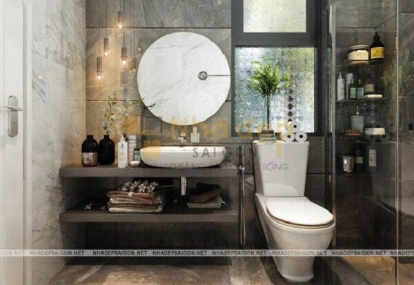 Mẫu nhà 7x15 – phòng vệ sinh nhỏ gọn