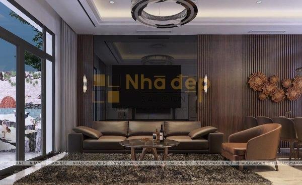 Mẫu nhà 4x14 – không gian phòng khách