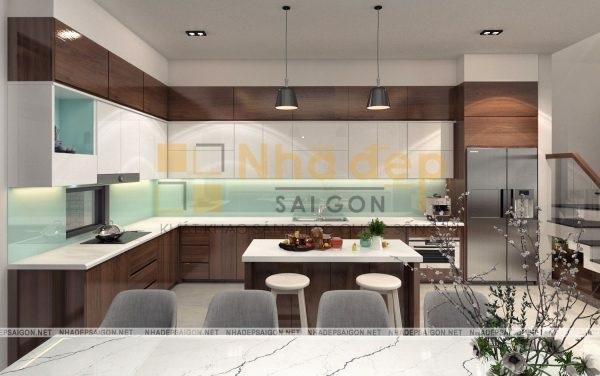 Mẫu nhà 4x18 - Không gian phòng bếp