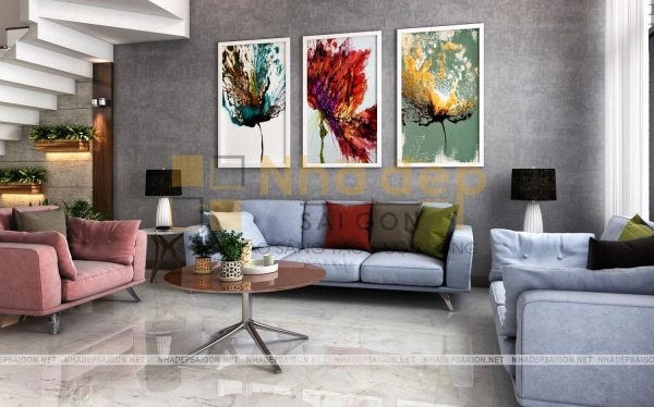 Mẫu nhà 4x18 – không gian phòng khách