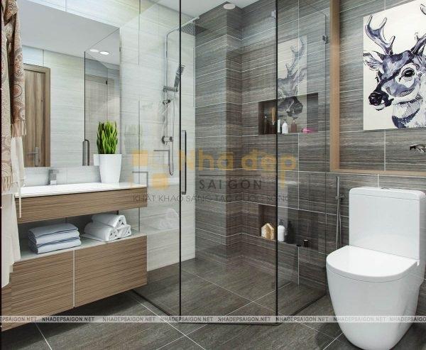 Mẫu nhà 4x20 – không gian phòng wc