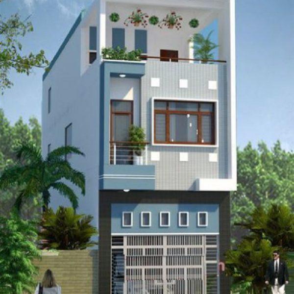 Mẫu nhà 5x10 thiết kế gara để tạo thêm công năng sử dụng cho ngôi nhà