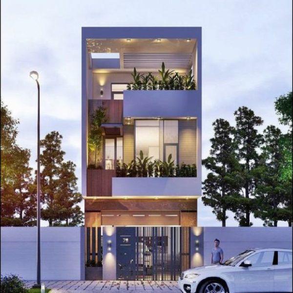 Mẫu nhà 5x12 có 1 tum sân thượng hiện đại – mẫu nhà đang hot năm 2020