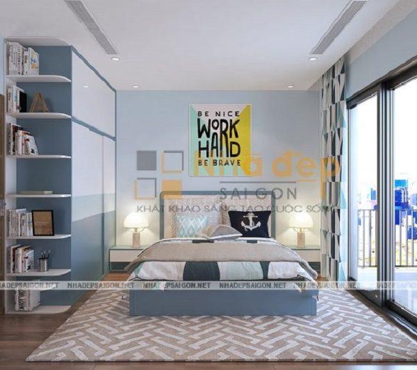 Mẫu nhà 5x14 – phòng ngủ của con trai được thiết kế trẻ trung