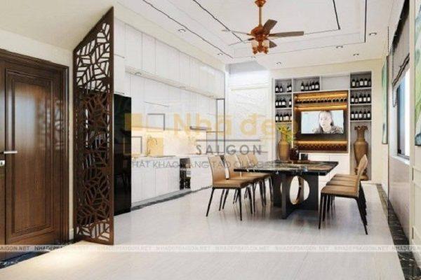 Mẫu nhà 5x17 – không gian nhà bếp được tối ưu nội thất