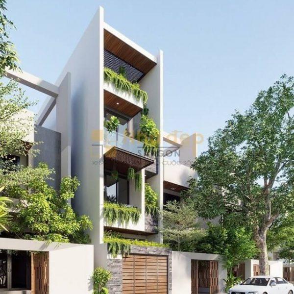 Cây xanh được sử dụng nhiều trong kiến trúc hiện đại