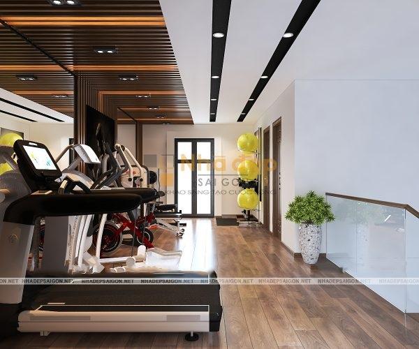 Mẫu nhà 5x8 – không gian lầu 3 với sân thượng thiết kế đẹp, tiện ích