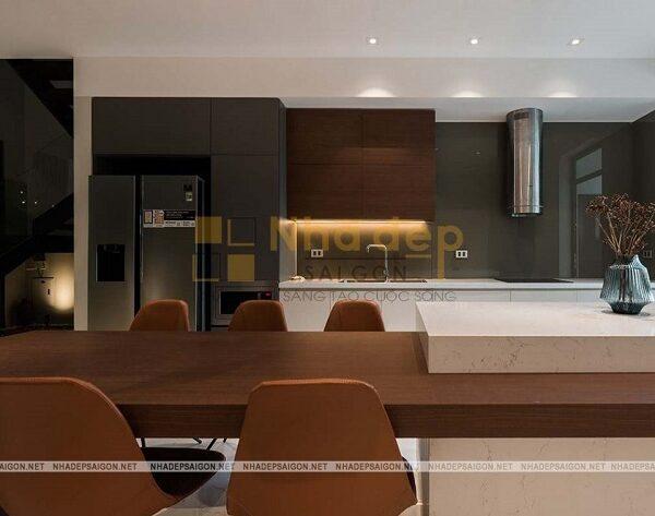 Vật liệu để làm nên nội thất cũng mang phong cách hiện đại