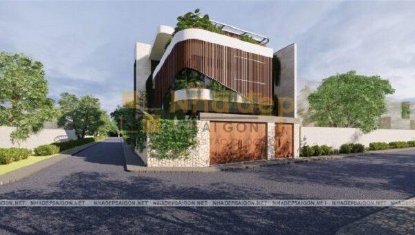Kiến trúc độc và lạ lại được xây dựng trên mảnh đất 2 mặt tiền, nên ngôi nhà trở nên nổi bật