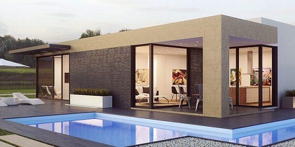 Ngôi nhà được thiết kế 1 tầng mái bằng