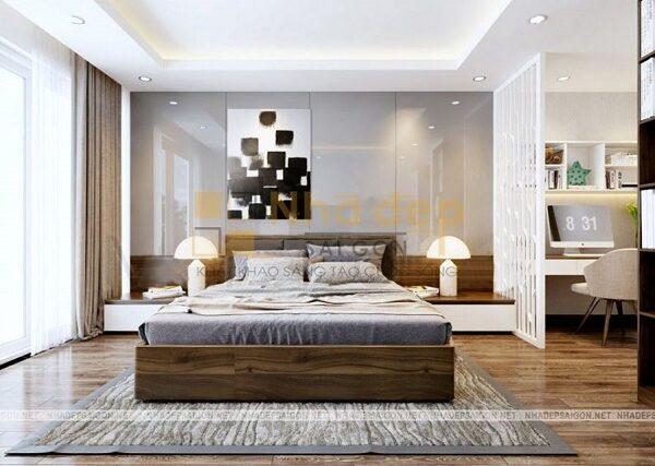 Mẫu nhà 6x17 – phòng ngủ được thiết kế hiện đại