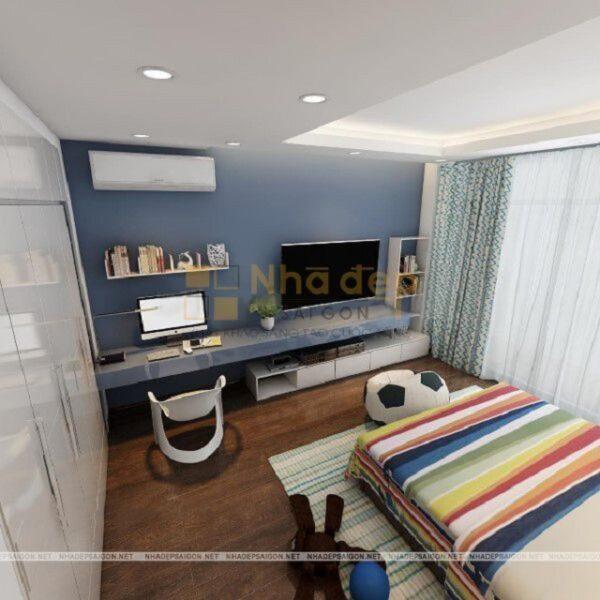 Mẫu 8: phòng ngủ phong cách hiện đại – dành cho bé trai