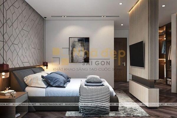 Mẫu 1: phòng ngủ phong cách hiện đại đẹp