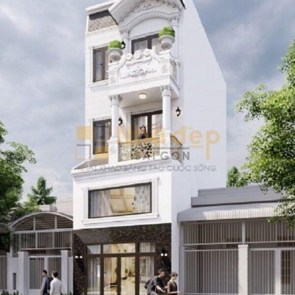 Thiết kế mẫu nhà 6x18 – 4 tầng