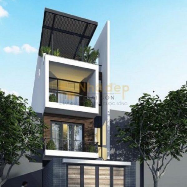 Mẫu nhà 6x18 – thiết kế 3 tầng hiện đại và tối giản