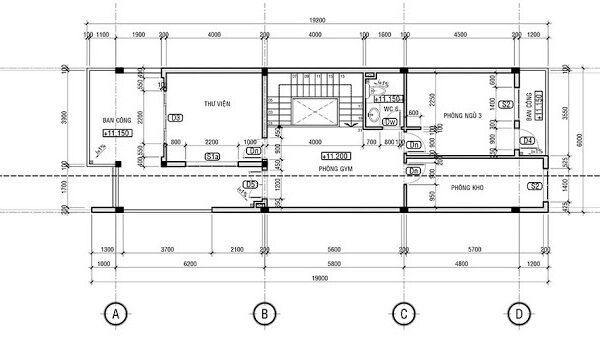 Lầu 2: theo yêu cầu của chủ đầu tư nên lầu 2 được thiết kế thêm 1 phòng ngủ khép kín, một phòng giải trí cho gia đình và 1 phòng tắm, vệ sinh.