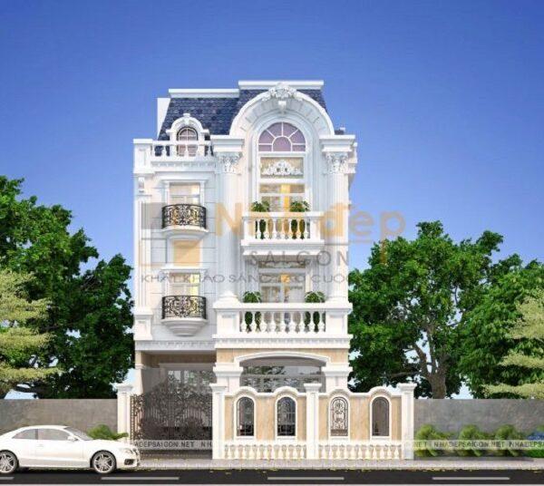 Thiết kế tân cổ điển sang trọng và nổi bật là của mẫu nhà trên đây