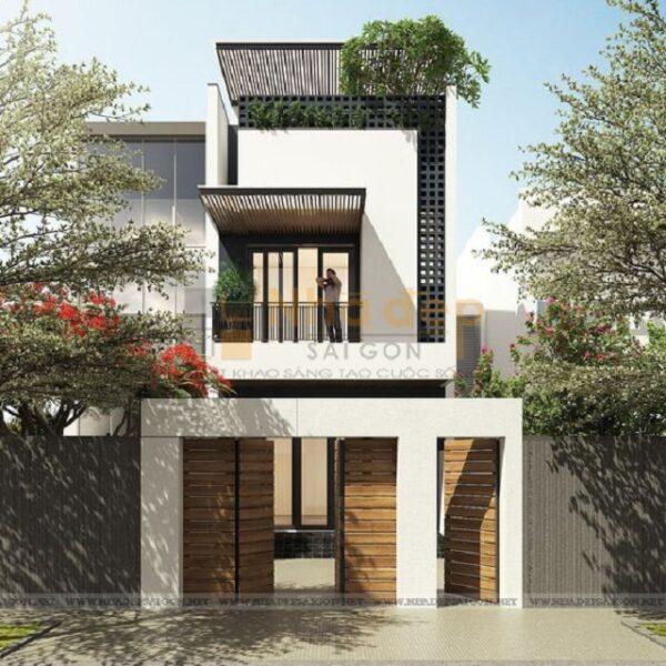 Ngôi nhà được thiết kế khá đơn giản, dành cho gia đình có ít thành viên sinh sống
