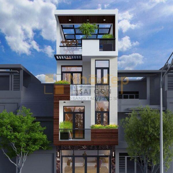 Đây cũng là một mẫu nhà phố, vừa kết hợp kinh doanh vừa dùng để ở