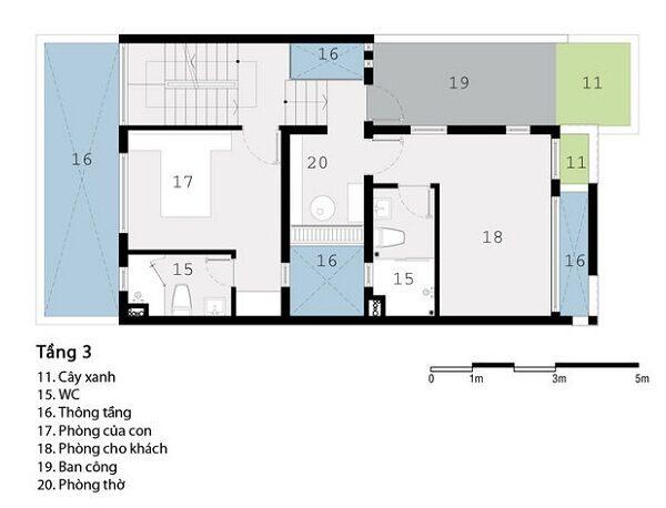 Bản vẽ bố trí mặt bằng tầng 3