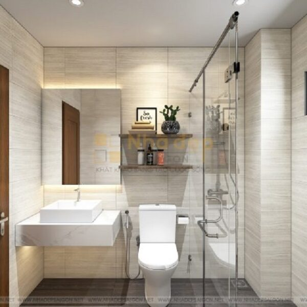 Mẫu nhà 7x20 – phòng vệ sinh không nên đặt đối diện với cửa chính