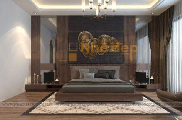 Một phòng ngủ khác mang phong cách hiện đại với màu trung tính làm chủ đạo
